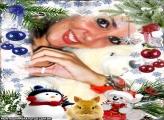 Moldura Coelhinho de Natal