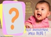 Feliz Aniversário Bebê Foto Montagem