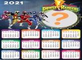 Foto Montagem Calendário 2021 Power Rangers