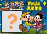 Montagem de Fotos Festa Junina Chico Bento