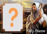 Feliz Páscoa Jesus Cristo Montagem de Foto