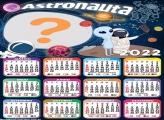 Moldura de Calendário 2022 Astronauta Online