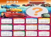 Calendário 2021 Carros Desenho Infantil