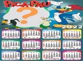 Calendário 2022 Pica Pau Colar Foto e Imprimir