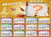 Calendário 2022 Música Moldura Foto Grátis