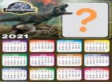 Moldura Calendário 2021 Jurassic World