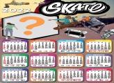 Calendário 2022 Skate Editar Grátis