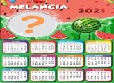 Calendário 2021 Melancia Montagem de Foto