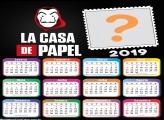 Calendário 2019 La Casa de Papel