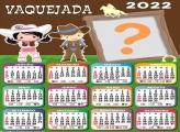 Calendário 2022 Vaquejada Montagem de Foto