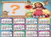 Calendário 2022 de Jesus Moldura Religiosa