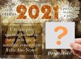 Feliz Ano Novo Clientes 2021 Foto Montagem
