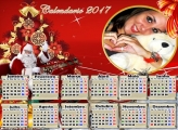 Calendário 2017 Horizontal Natalino