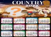 Calendário 2022 Country Infantil Montar Foto Grátis