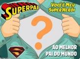 Moldura Super Herói Dia dos Pais