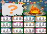 Calendário 2022 Fogueira Online de Festa Junina