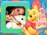 Moldura Aniversário Pooh