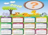 Calendário 2019 Infantil Safari