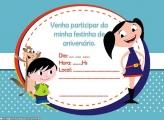 Convite Aniversário do Show da Luna
