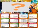 Moldura para Calendário 2020 Goku Super Sayajin