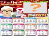 Calendário 2021 Sogra Feliz Natal Foto Montagem